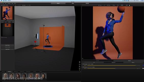 بهبود نور پردازی در عکاسی پرتره با نرم افزار Virtual 3D